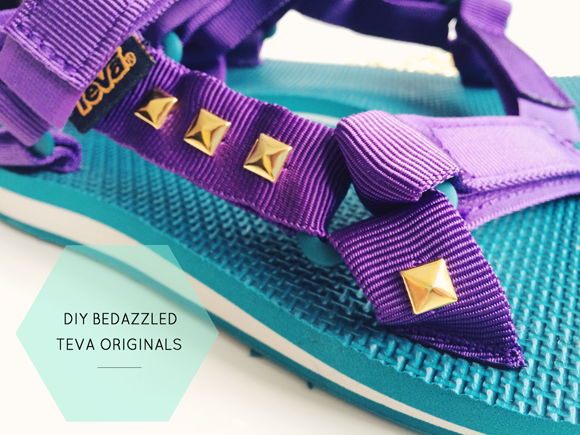 DIY: Bedazzled Teva Originals with Growing East
