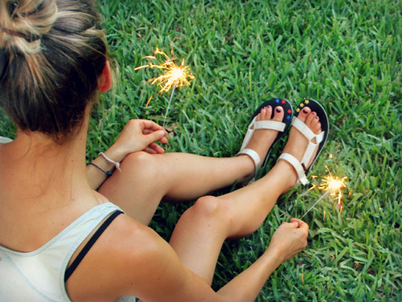 DIY Star-Spangled Sandals