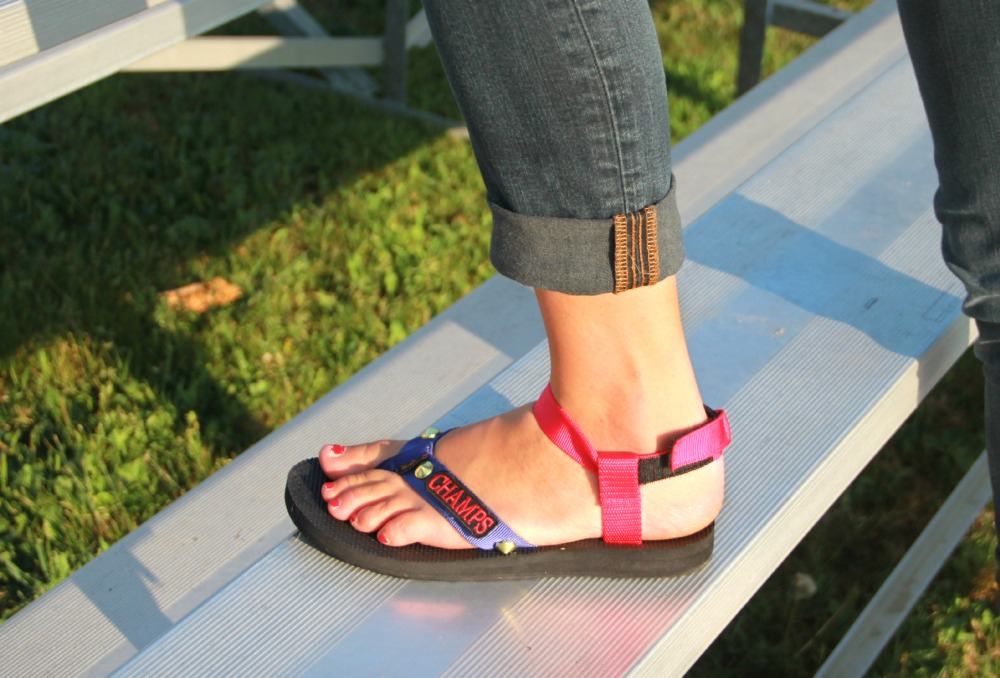 DIY School Pride Sandals
