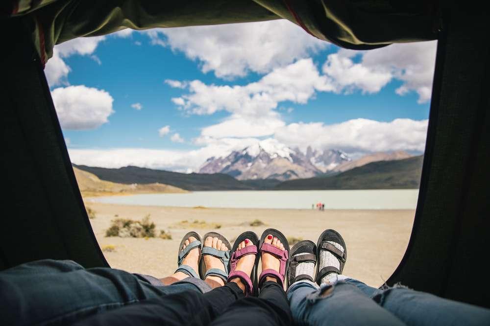 Teva sandals in Patagonia
