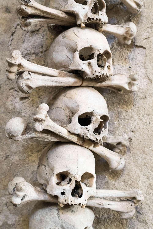 Bone Church skulls Prague