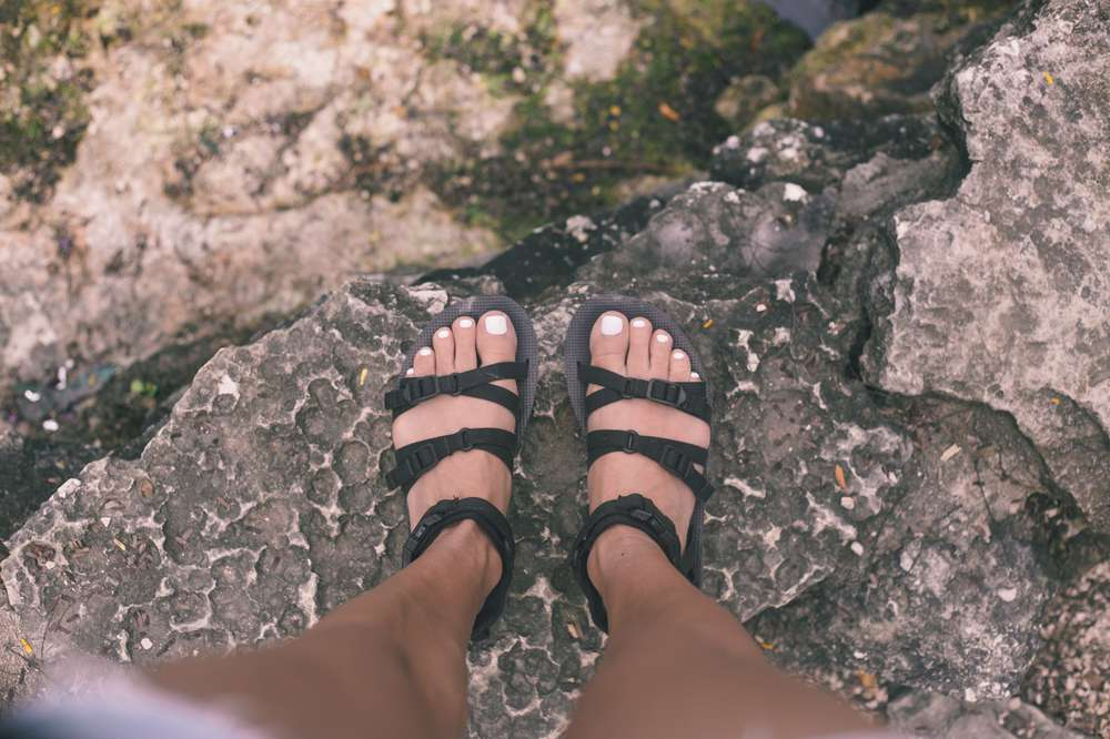 Point of view picture of Teva Alp sandals