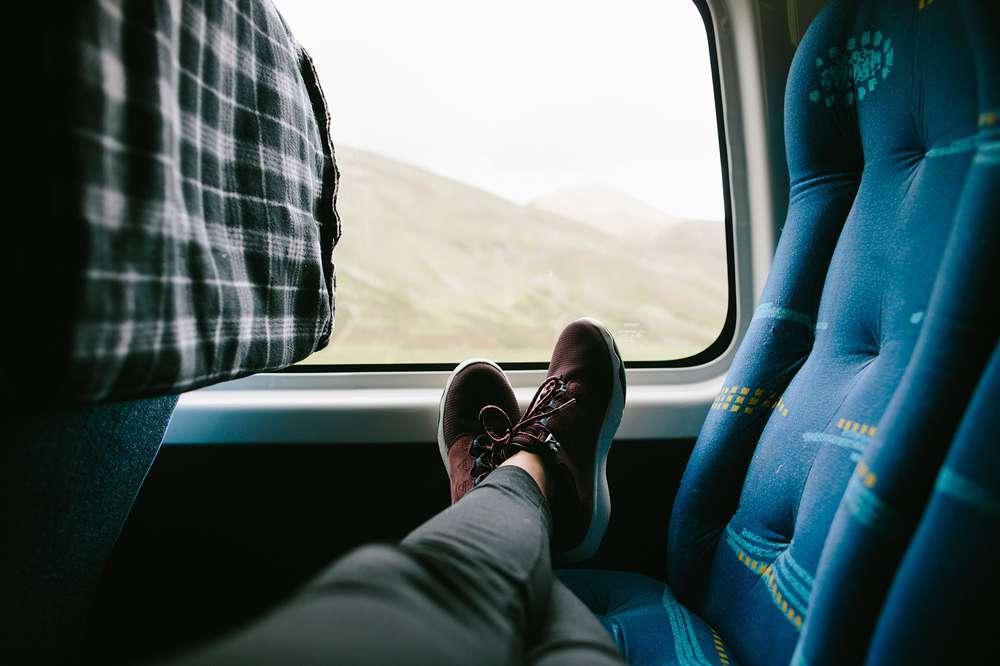 Feet resting van seat