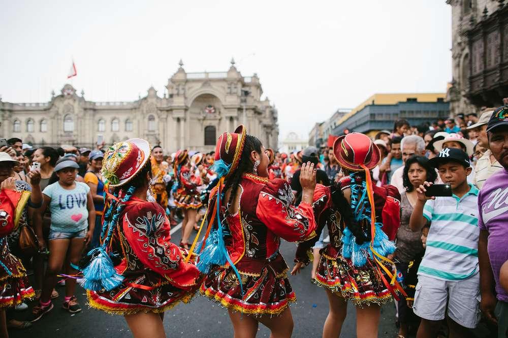 Festival dancers Peru