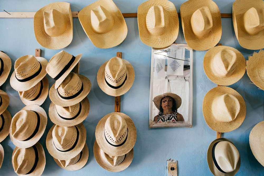 a hat shop in cuba