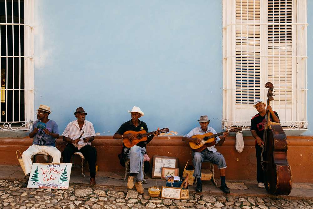 men playing guitar Cuba