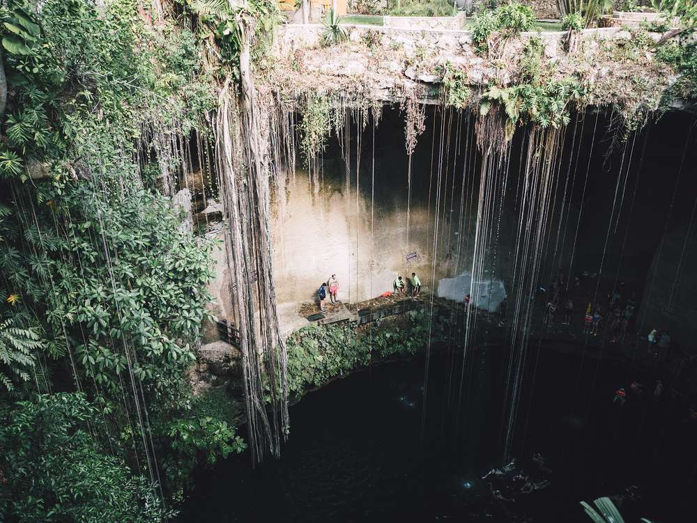 A fresh water cenote in Mexico