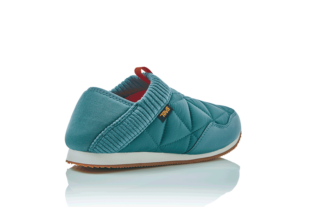 Teva Ember Moc featuring a collapsible heel.