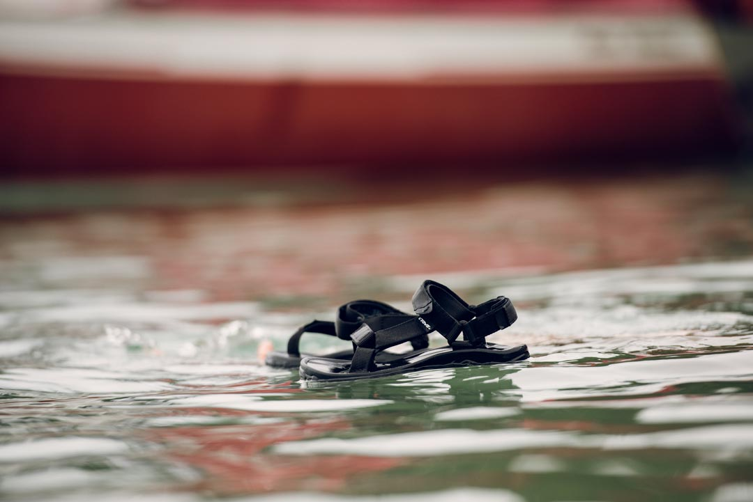 Hurricane XLT sandals floating.
