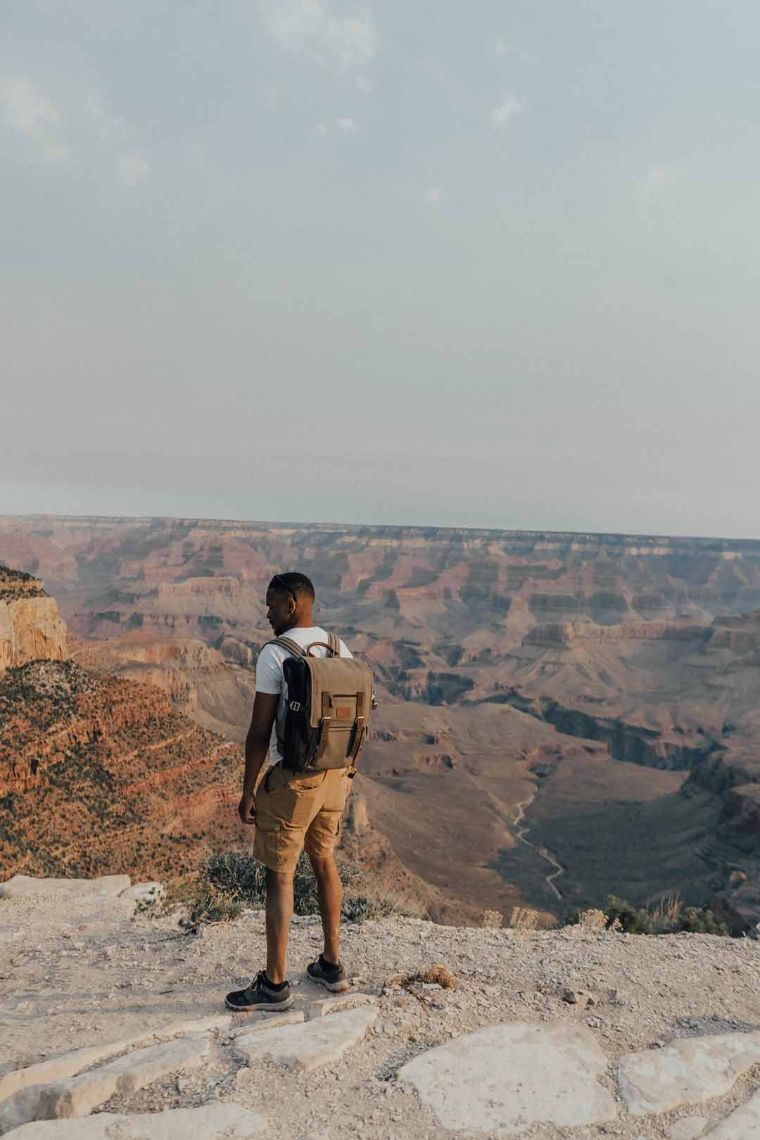 Man standing at the Grand Canyon