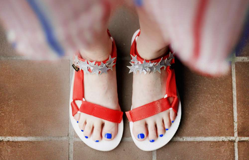 DIY Fourth of July Original Sandals