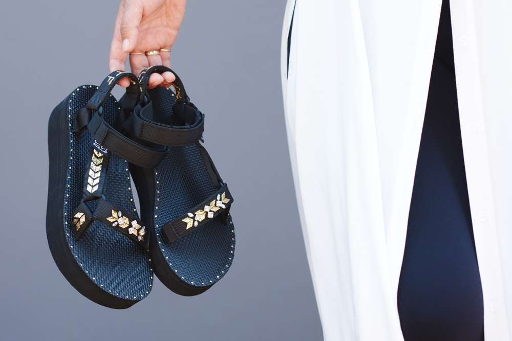 DIY Teva X HonestlyWTF Sandals with Swarovski Crystals
