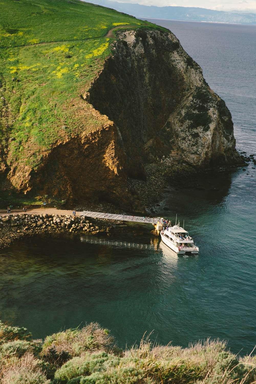Ferry docked santa cruz island