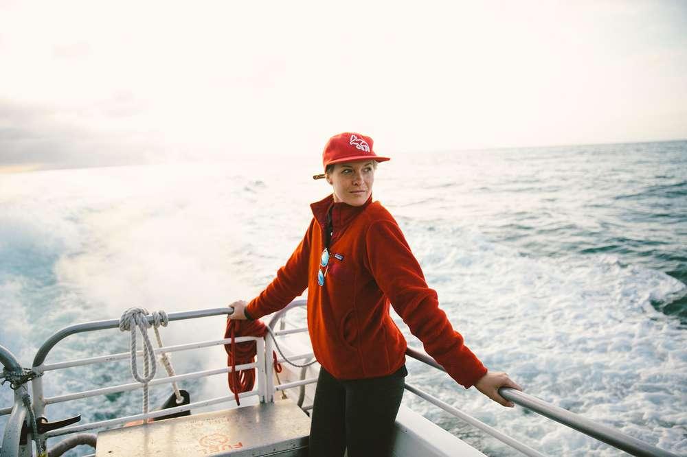 Kate Rentz on ferry