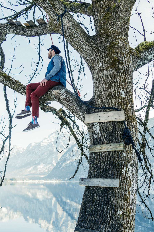 Nick Visconti sitting in tree