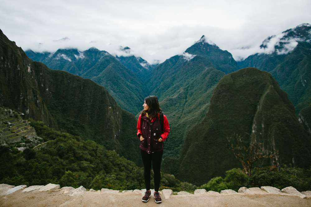 Abigail Demyanek standing in Peru