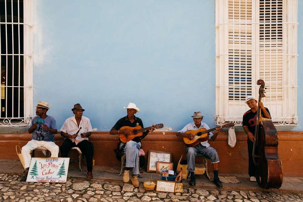 men playing guitar Cuba