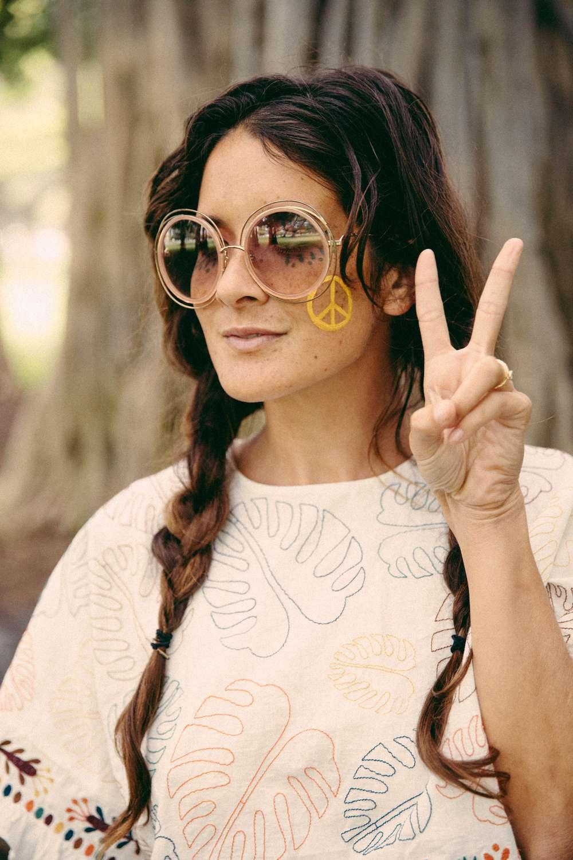 Tara Rock wearing face paint for festival season