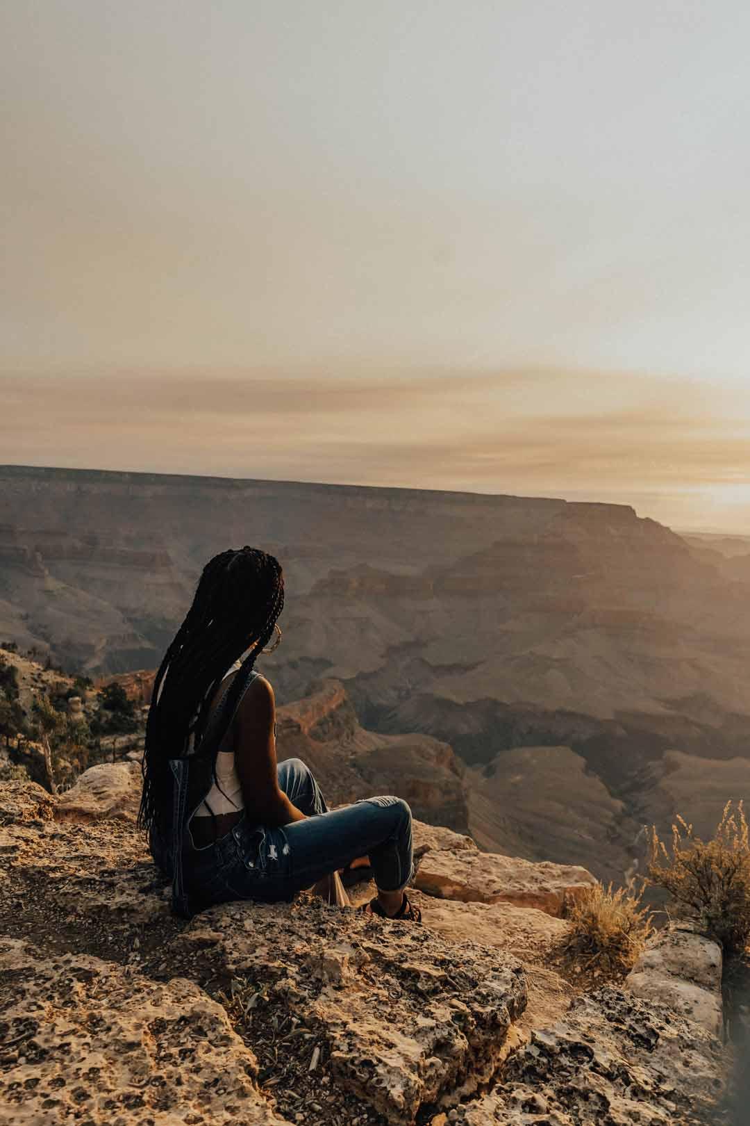 Enocha Tellus at the Grand Canyon