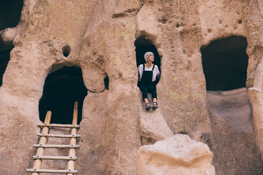 Johnie Gall in Bandelier National Monument