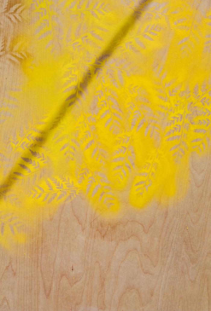 Leaf stencil art