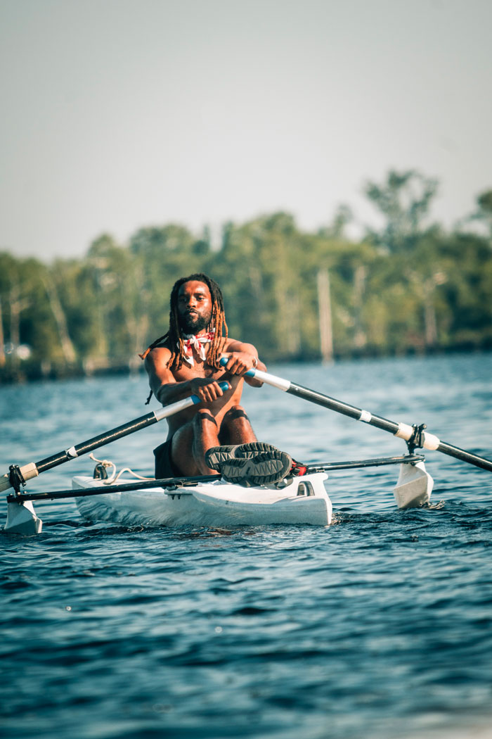Ron Griswell rowing