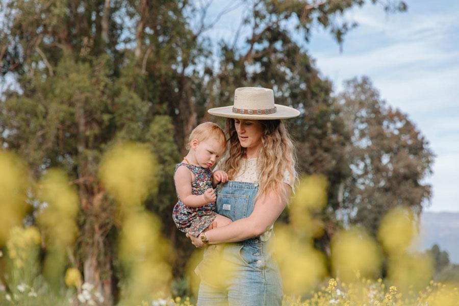 Savannah Benton and her daughter