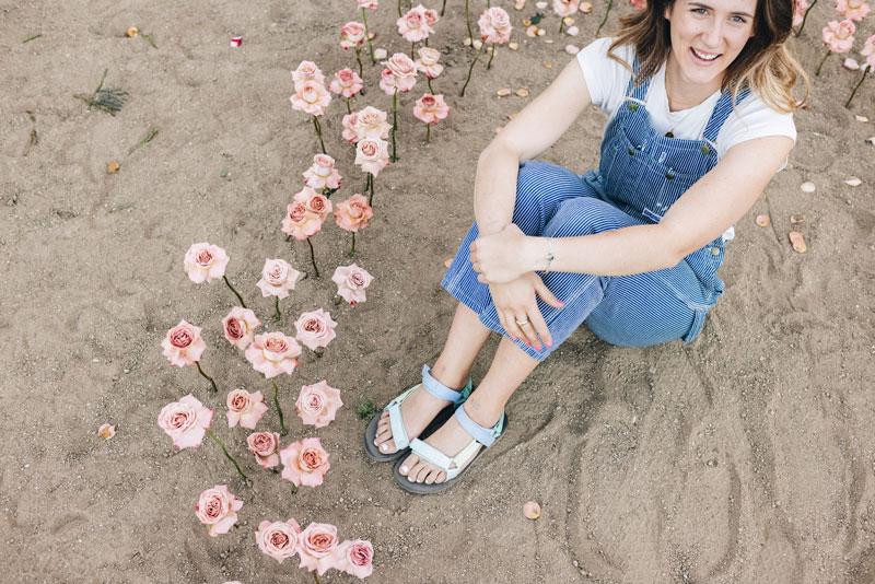 Savannah Benton in the dirt.
