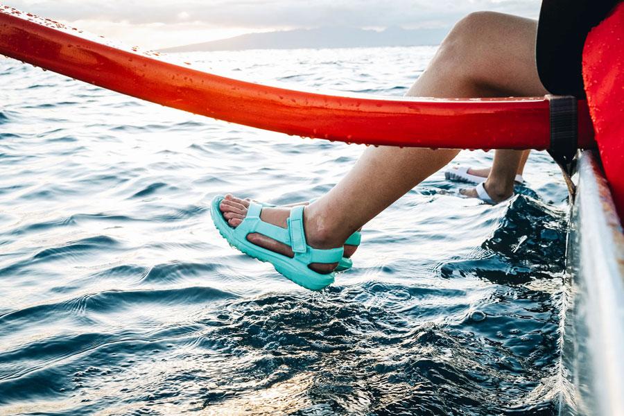 Hurricane Drift sandals.
