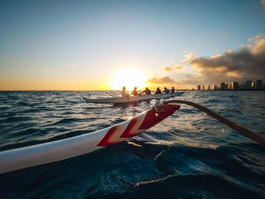Sunset in Oahu.