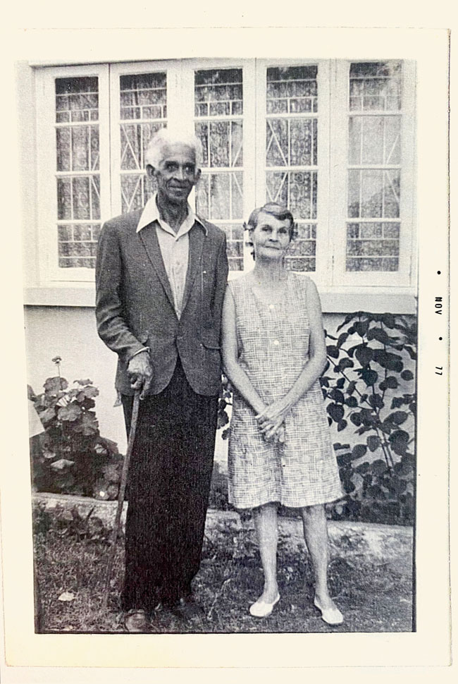 Samantha's maternal grandfather and grandmother
