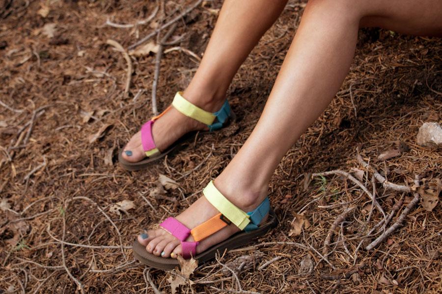 Original Universal sandals in Retro Multi.