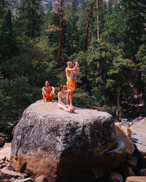 Exploring swimming holes in Yosemite