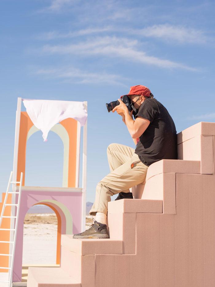 Teva photographer on set.