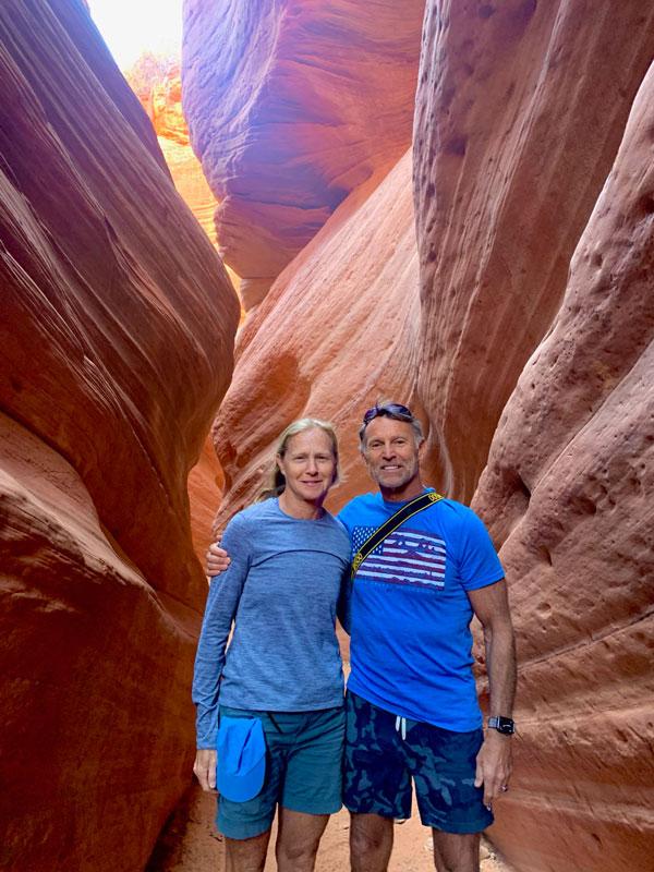 Exploring slot canyons in Utah.