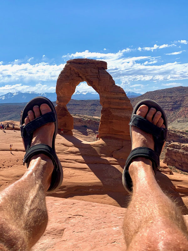Jimmy and his Teva sandals visit Moab.